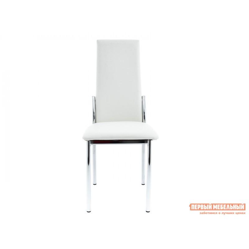 Обеденная группа для столовой и гостиной  Стол Гамбург + 4 стула Асти Аврора вайт, экокожа / Белый, ЛДСП / Белый, стекло (фото 5)
