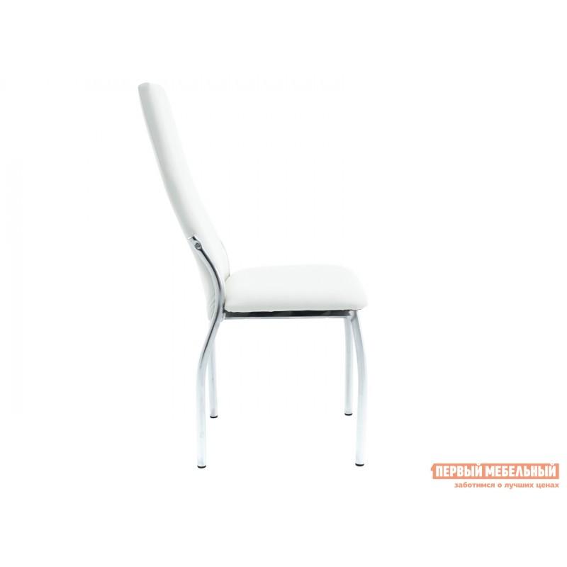 Обеденная группа для столовой и гостиной  Стол Гамбург + 4 стула Асти Аврора вайт, экокожа / Белый, ЛДСП / Белый, стекло (фото 6)