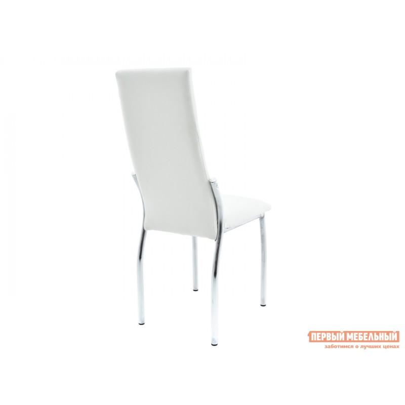 Обеденная группа для столовой и гостиной  Стол Гамбург + 4 стула Асти Аврора вайт, экокожа / Белый, ЛДСП / Белый, стекло (фото 7)