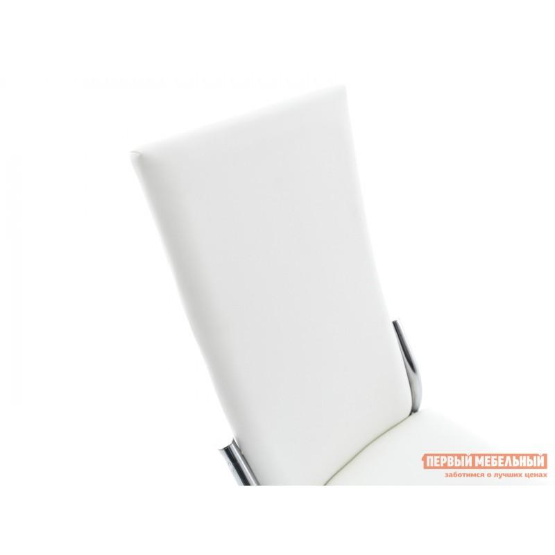 Обеденная группа для столовой и гостиной  Стол Гамбург + 4 стула Асти Аврора вайт, экокожа / Белый, ЛДСП / Белый, стекло (фото 8)