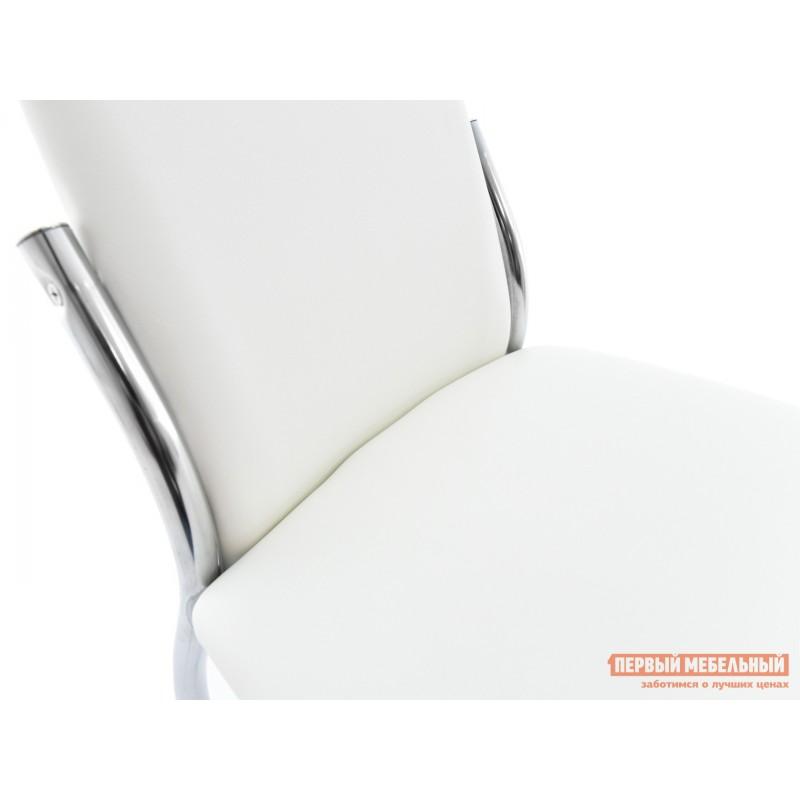 Обеденная группа для столовой и гостиной  Стол Гамбург + 4 стула Асти Аврора вайт, экокожа / Белый, ЛДСП / Белый, стекло (фото 9)
