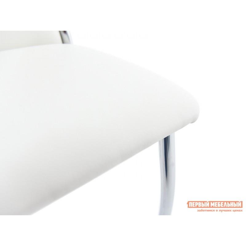 Обеденная группа для столовой и гостиной  Стол Гамбург + 4 стула Асти Аврора вайт, экокожа / Белый, ЛДСП / Белый, стекло (фото 10)