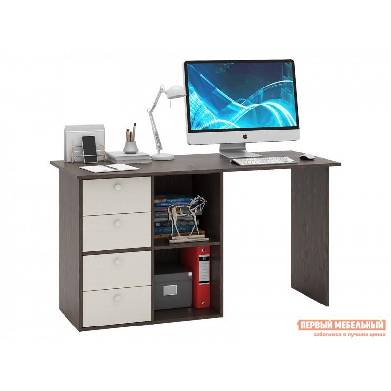 Письменный стол  Прайм-67 Венге / Дуб молочный