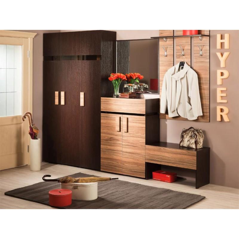 Распашной шкаф  Hyper Шкаф для белья 2 Венге, Левый (фото 2)
