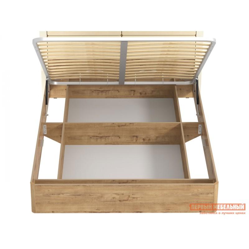 Двуспальная кровать  Кровать Ливорно 040.52 Дуб бунратти / Софт панакота (фото 4)