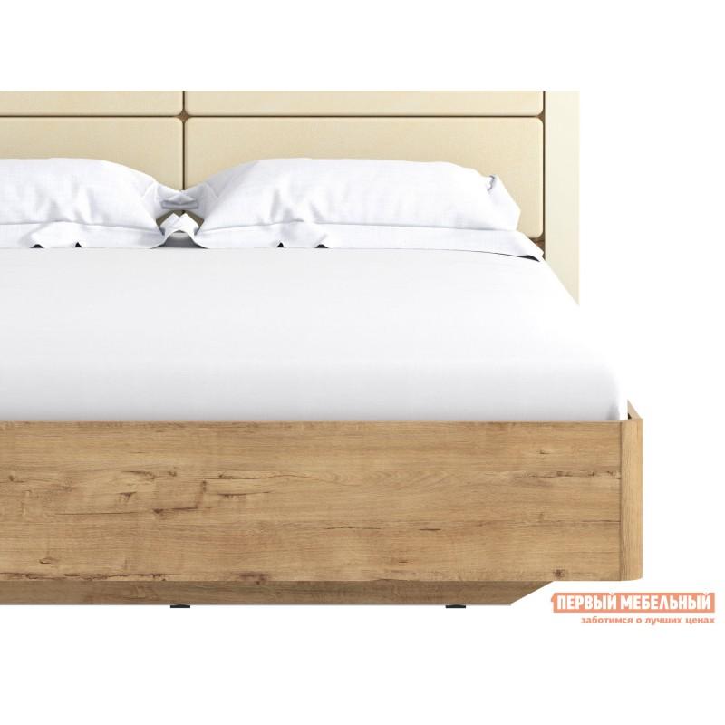 Двуспальная кровать  Кровать Ливорно 040.52 Дуб бунратти / Софт панакота (фото 5)