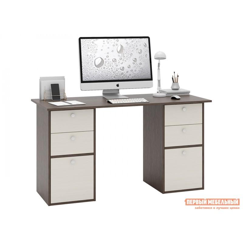 Письменный стол  Прайм-62 Венге / Дуб молочный