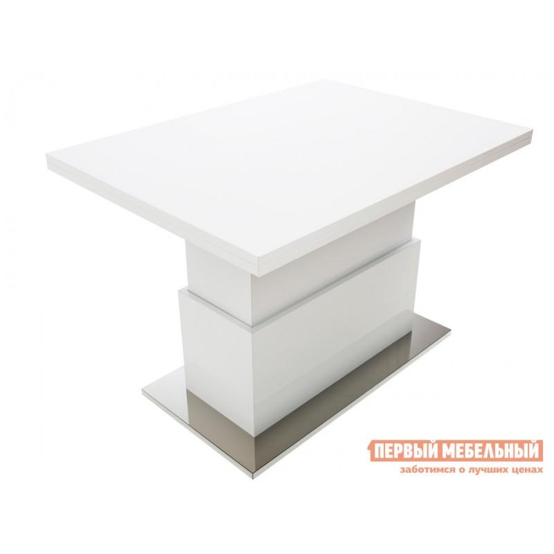 Кухонный стол  Slide GL Белый глянец