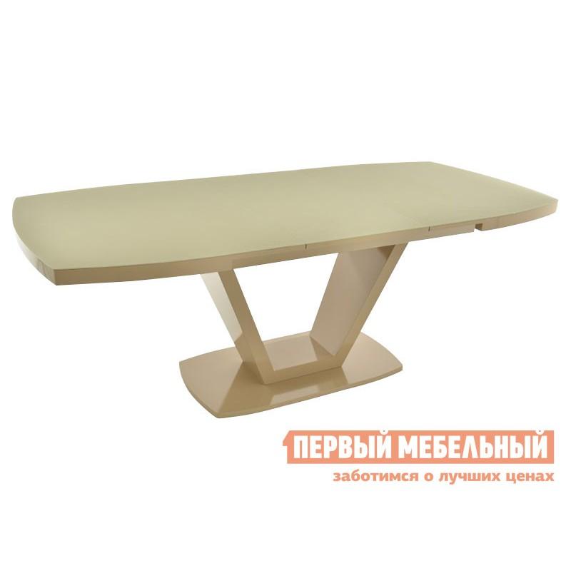 Кухонный стол  Фоджа Капучино / Стекло Opti матте, Малый