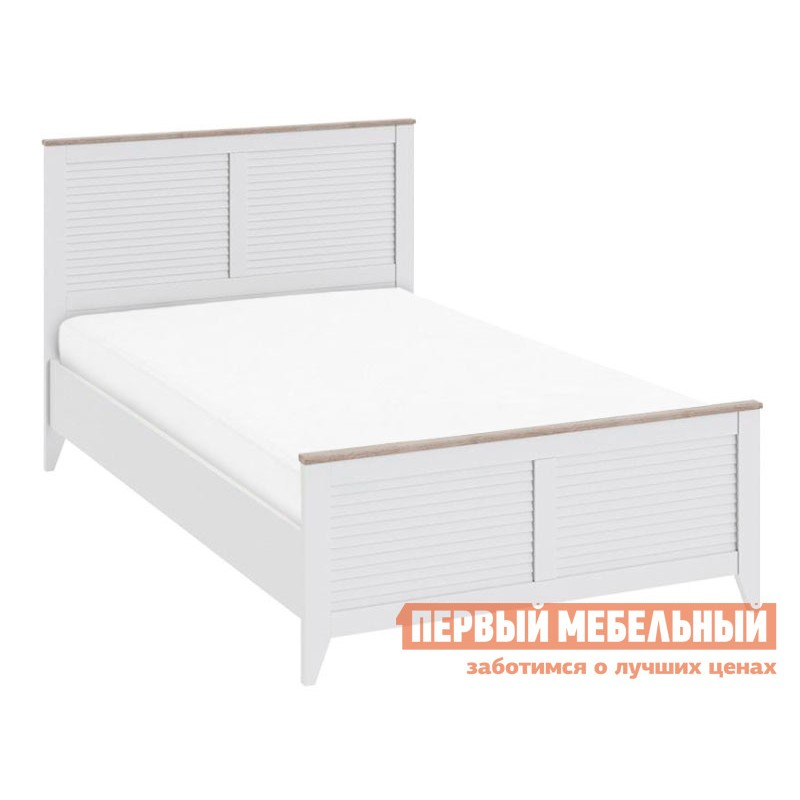 Детская кровать  Ривьера СМ 241.13.21 Кровать с изножьем Дуб Бонифацио / Белый