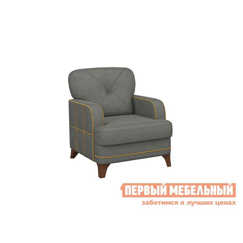 Кресло  Черри Серый, искусственная замша