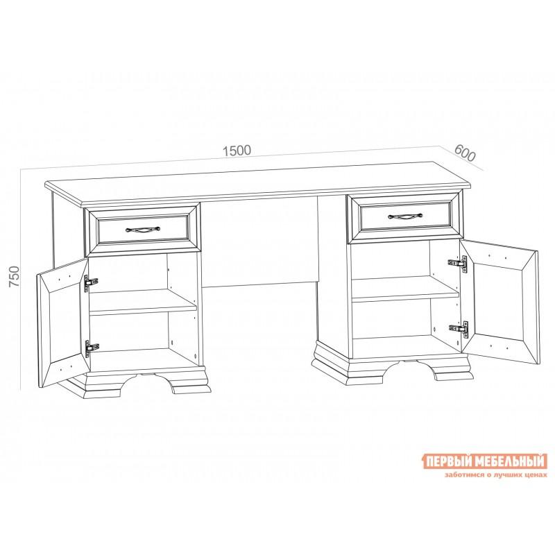 Письменный стол  TIFFANY Вудлайн кремовый (фото 4)