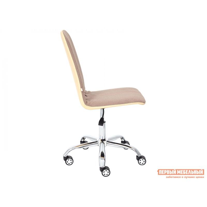 Офисное кресло  Офисное кресло RIO Коричневый, экошерсть / Бежевый, кожзам (фото 3)