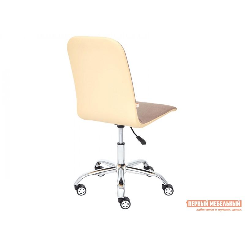 Офисное кресло  Офисное кресло RIO Коричневый, экошерсть / Бежевый, кожзам (фото 4)