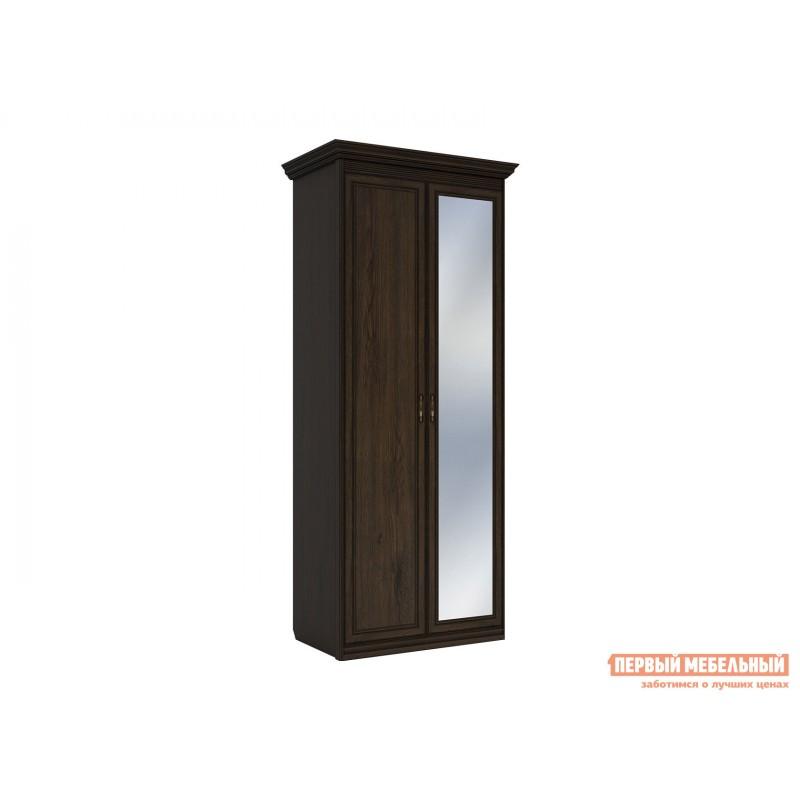 Распашной шкаф  Шкаф 2-х дверный Неаполь Дуб Април, С одним зеркалом