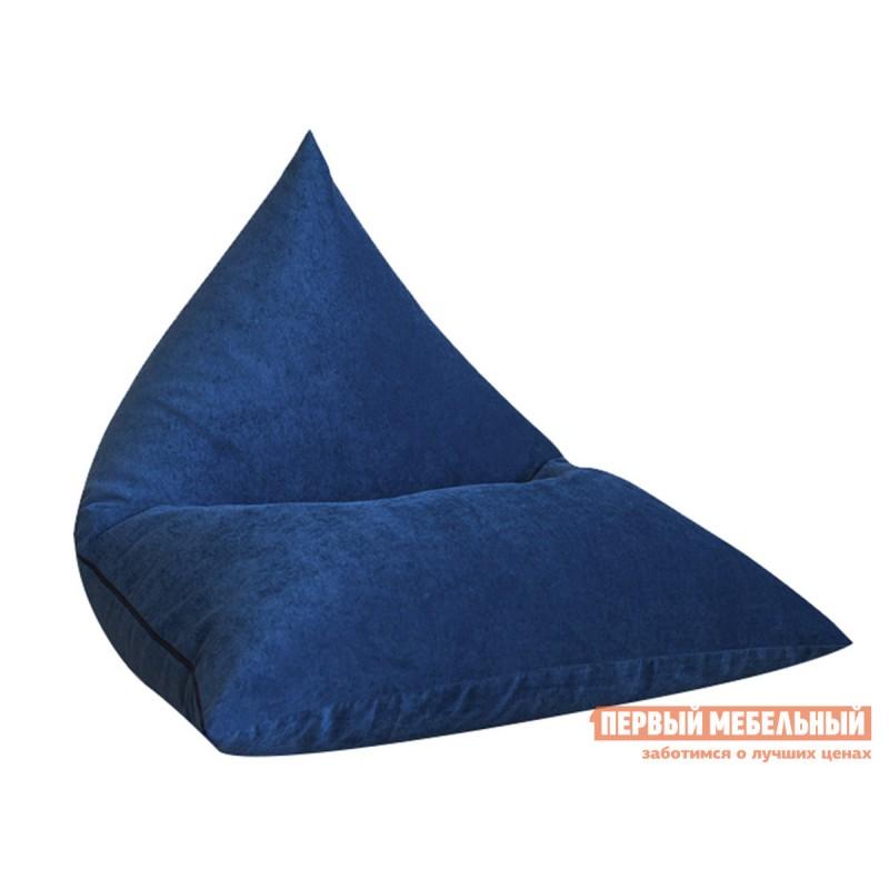 Кресло-мешок  Кресло-мешок Пирамида К Синий микровельвет