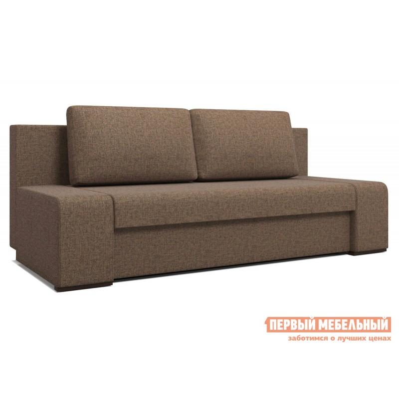 Прямой диван  Монако Кофейный RE 02, рогожка