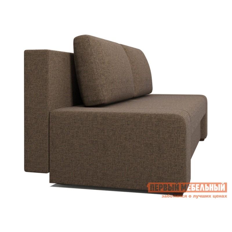 Прямой диван  Монако Кофейный RE 02, рогожка (фото 2)