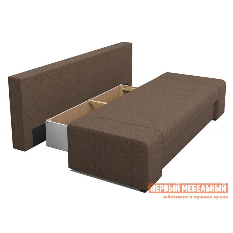 Прямой диван  Монако Кофейный RE 02, рогожка (фото 3)
