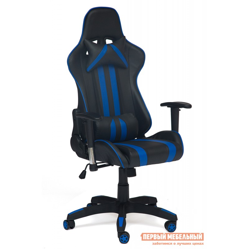 Игровое кресло  iCar Иск. кожа черная / синяя