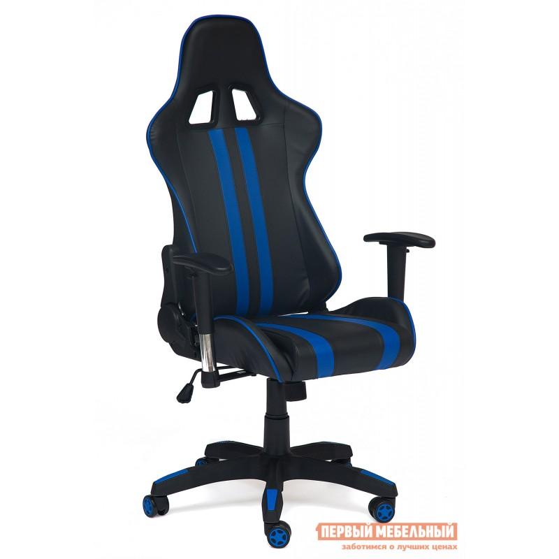 Игровое кресло  iCar Иск. кожа черная / синяя (фото 2)