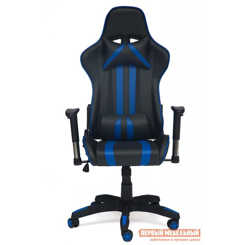 Игровое кресло  iCar Иск. кожа черная / синяя (фото 3)