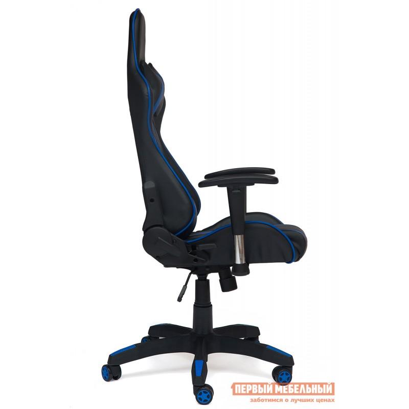 Игровое кресло  iCar Иск. кожа черная / синяя (фото 4)