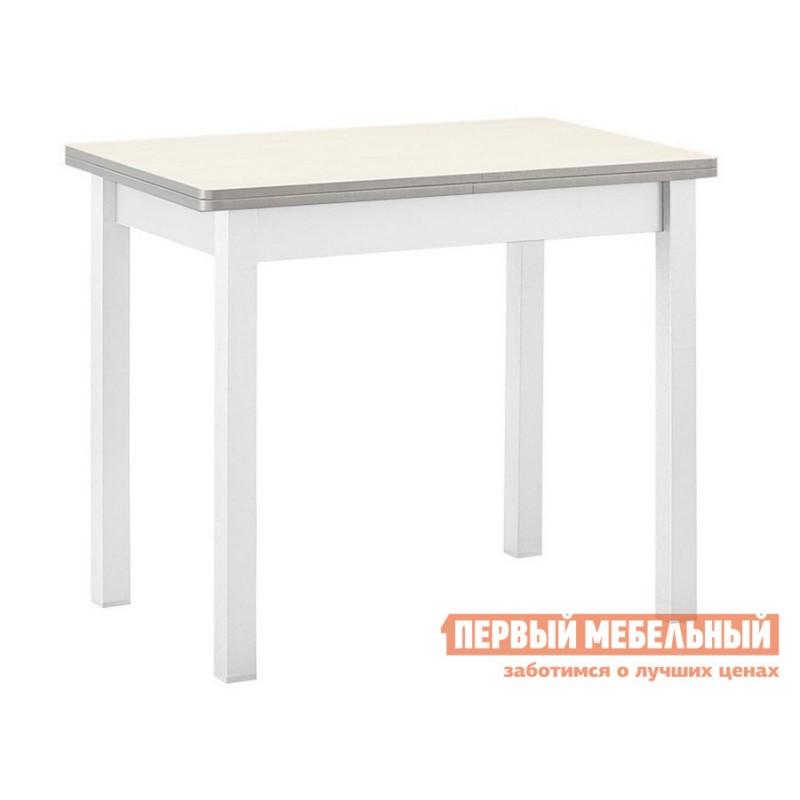 Кухонный стол   Стол обеденный раскладной прямая ножка Авола ЛДСП / Белый