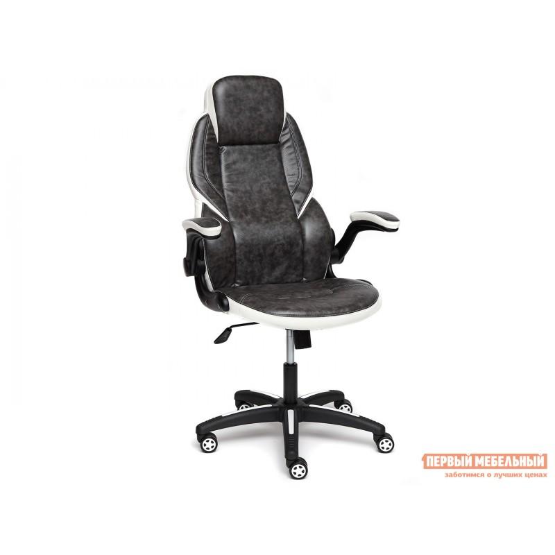 Игровое кресло  BAZUKA Иск. кожа, серый/белый, 2TONE/2TONE перф/36-01