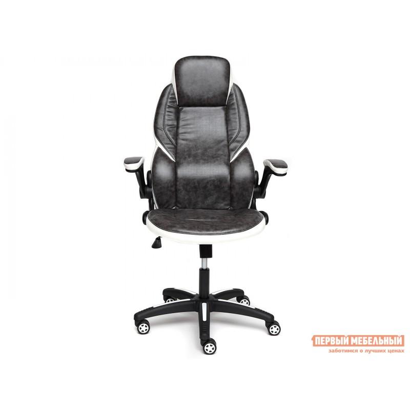 Игровое кресло  BAZUKA Иск. кожа, серый/белый, 2TONE/2TONE перф/36-01 (фото 2)