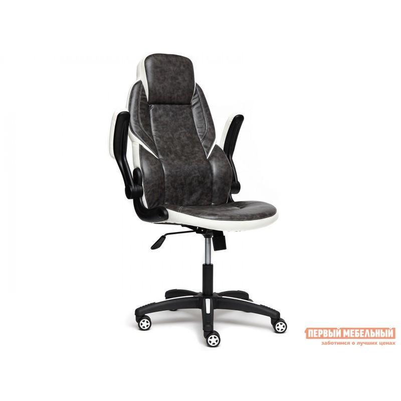 Игровое кресло  BAZUKA Иск. кожа, серый/белый, 2TONE/2TONE перф/36-01 (фото 5)