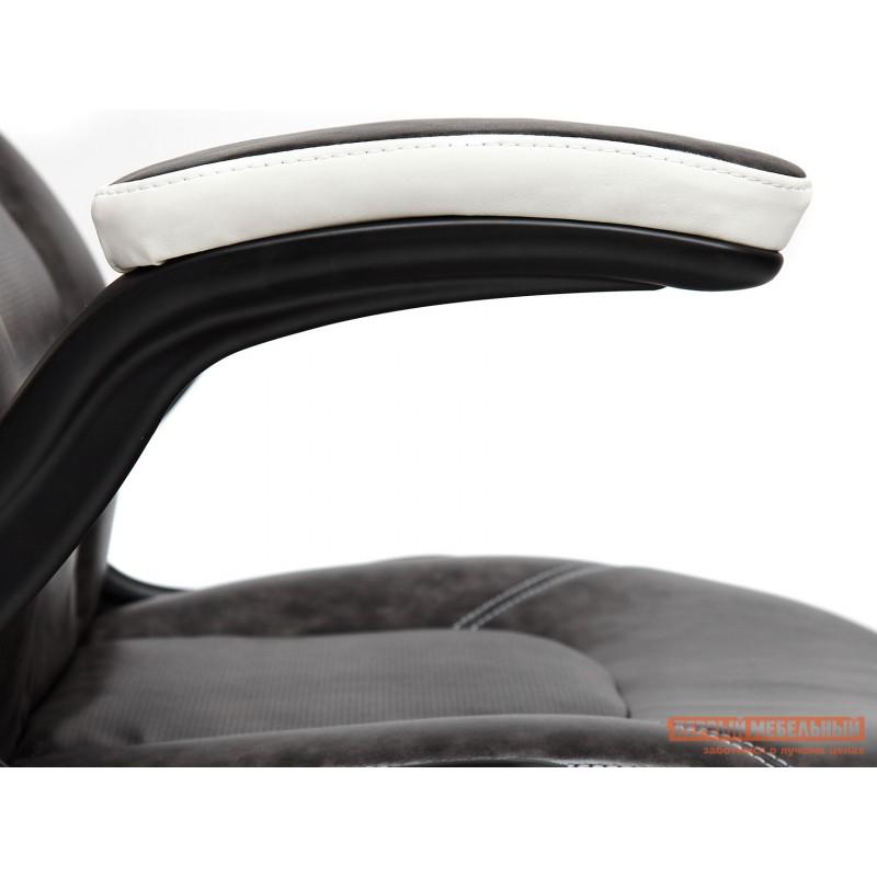 Игровое кресло  BAZUKA Иск. кожа, серый/белый, 2TONE/2TONE перф/36-01 (фото 6)