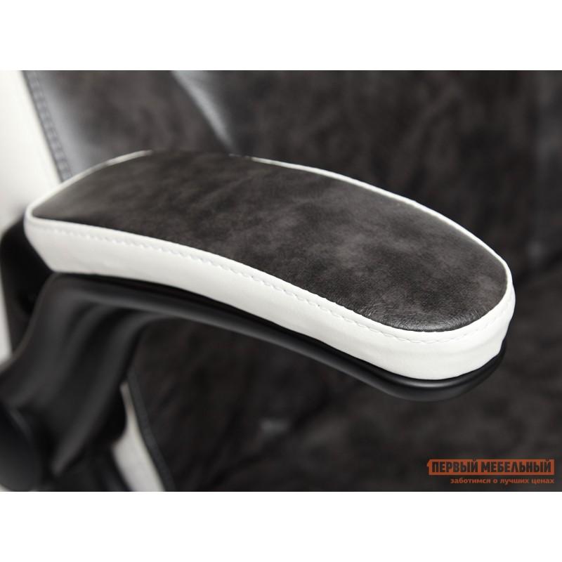 Игровое кресло  BAZUKA Иск. кожа, серый/белый, 2TONE/2TONE перф/36-01 (фото 7)