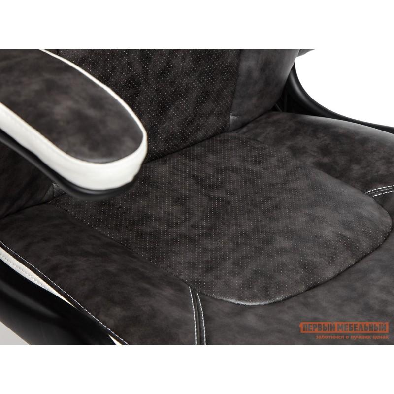 Игровое кресло  BAZUKA Иск. кожа, серый/белый, 2TONE/2TONE перф/36-01 (фото 9)