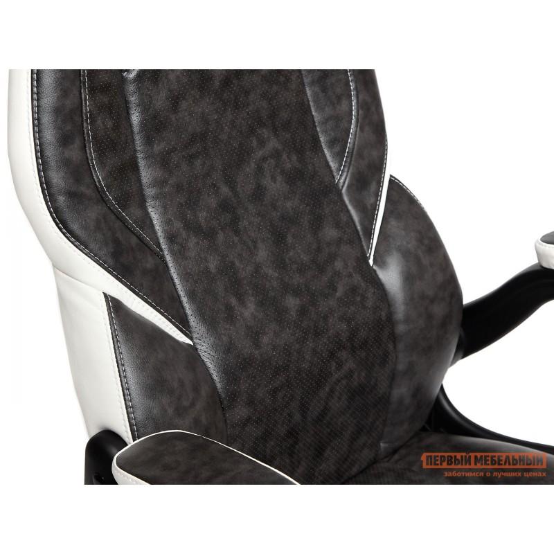 Игровое кресло  BAZUKA Иск. кожа, серый/белый, 2TONE/2TONE перф/36-01 (фото 10)