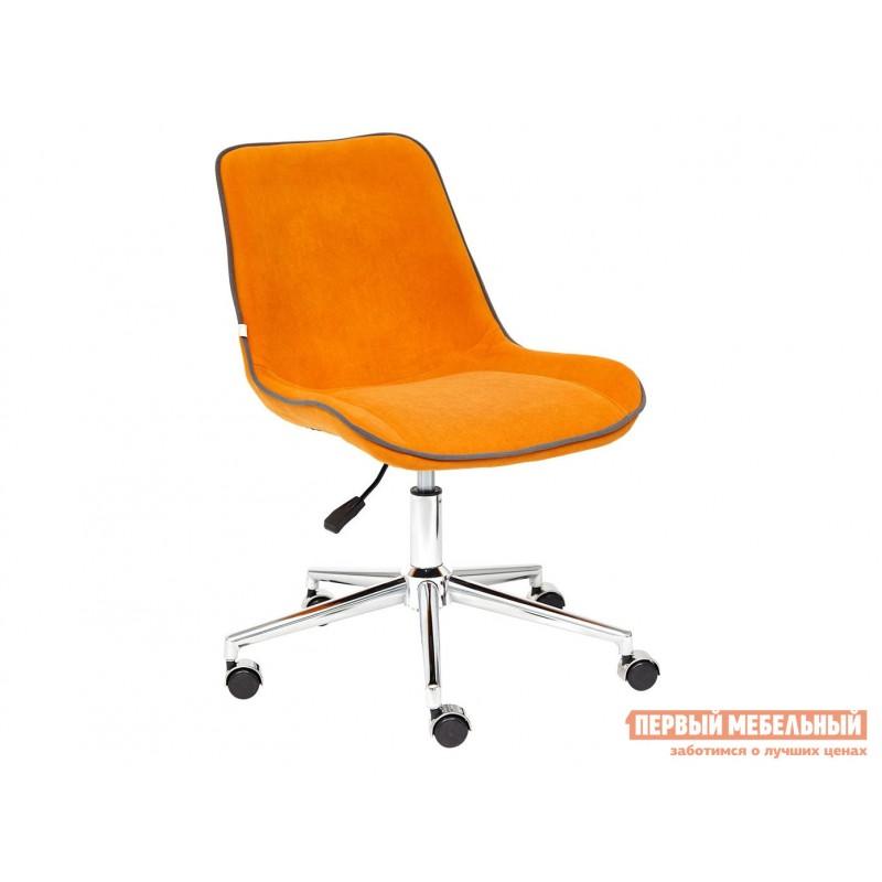 Офисное кресло  Кресло STYLE Флок / Оранжевый / 18
