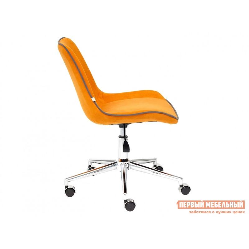Офисное кресло  Кресло STYLE Флок / Оранжевый / 18 (фото 5)