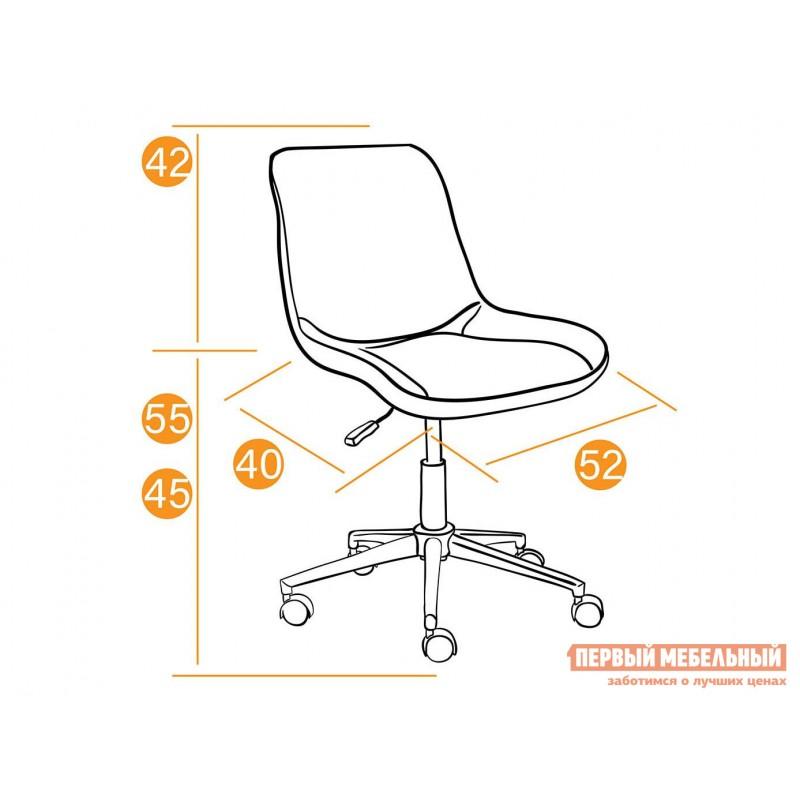 Офисное кресло  Кресло STYLE Флок / Оранжевый / 18 (фото 9)