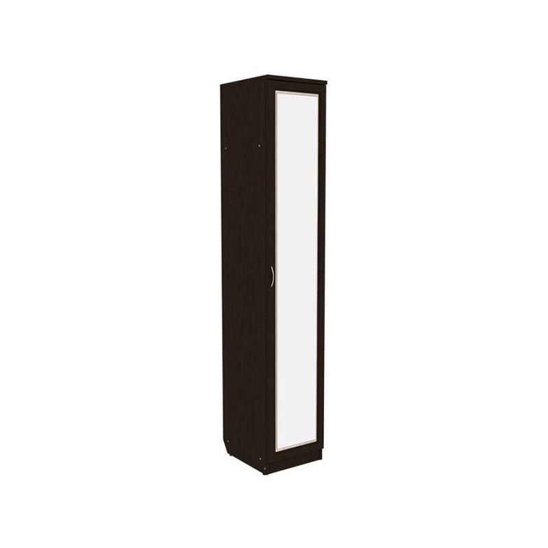 Распашной шкаф  Мерлен 105 с полками Венге / Дуб Атланта, С зеркалом