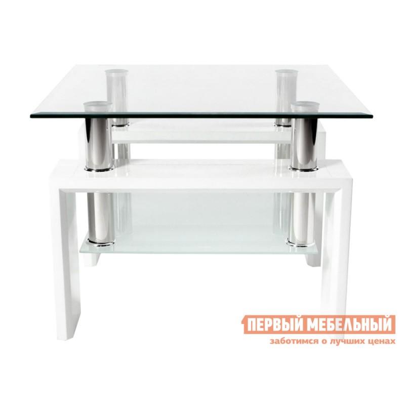 Журнальный столик  Журнальный стол ST-052 Прозрачный, стекло / Белый (фото 2)