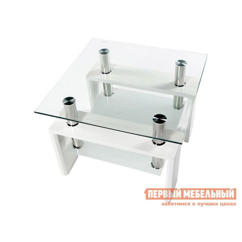 Журнальный столик  Журнальный стол ST-052 Прозрачный, стекло / Белый (фото 3)