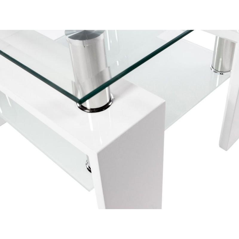 Журнальный столик  Журнальный стол ST-052 Прозрачный, стекло / Белый (фото 5)