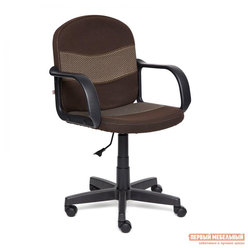 Офисное кресло  BAGGI Ткань коричневая / бежевая