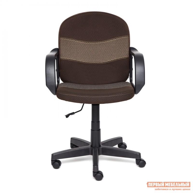 Офисное кресло  BAGGI Ткань коричневая / бежевая (фото 2)