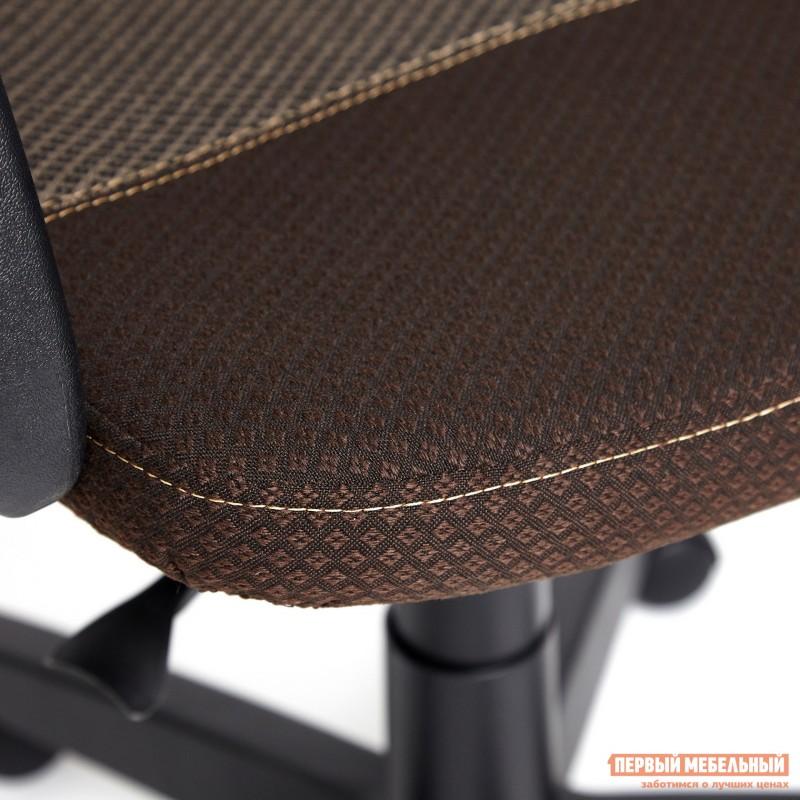 Офисное кресло  BAGGI Ткань коричневая / бежевая (фото 5)