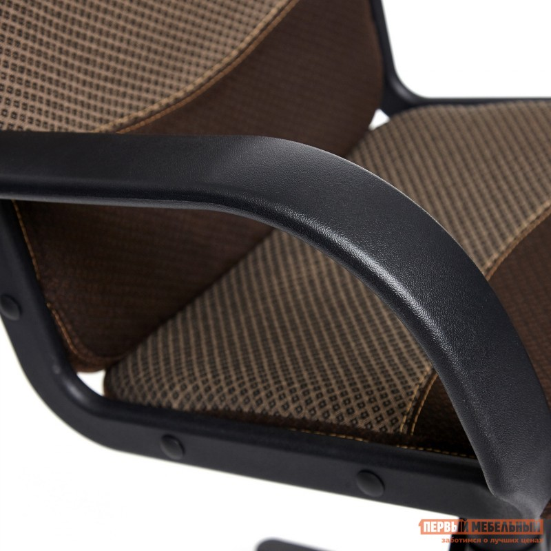 Офисное кресло  BAGGI Ткань коричневая / бежевая (фото 7)
