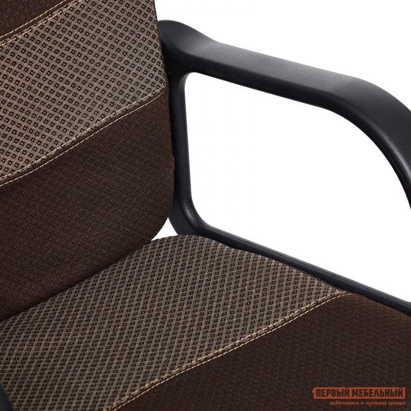 Офисное кресло  BAGGI Ткань коричневая / бежевая (фото 8)