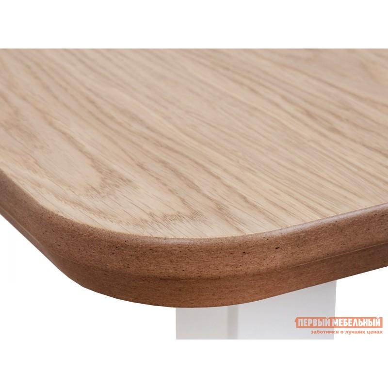 Кухонный стол  Стол WENUS 2 S, 140(180)*80*76 Дуб натуральный / Белый (фото 3)