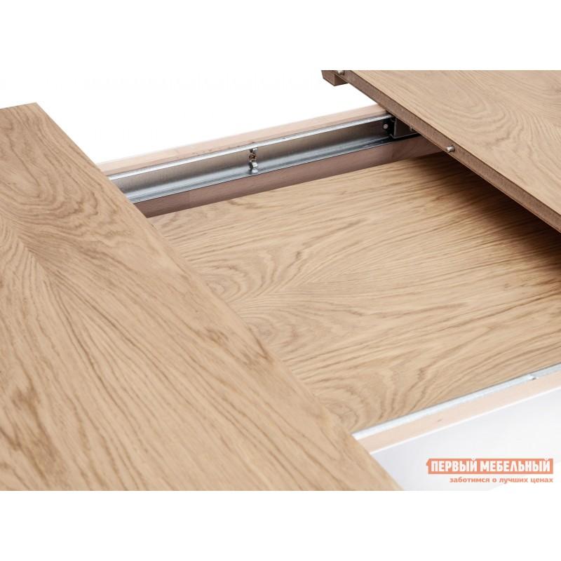 Кухонный стол  Стол WENUS 2 S, 140(180)*80*76 Дуб натуральный / Белый (фото 5)