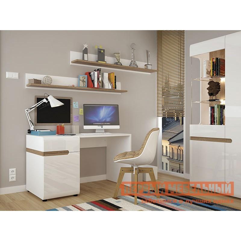 Письменный стол  Стол письменный /TYP 80, LINATE Белый / Сонома трюфель (фото 2)